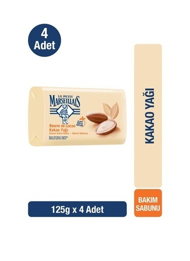 LPM Le Petit Marseillais El Ve Bakım Sabunu Kakao 125Gr X4 Renksiz
